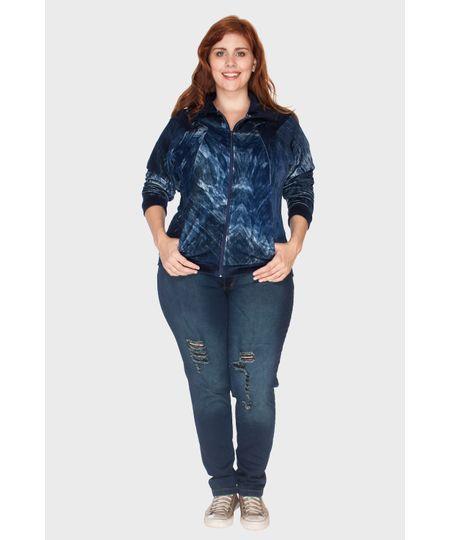Jaqueta Autêntica Estampada Plus Size