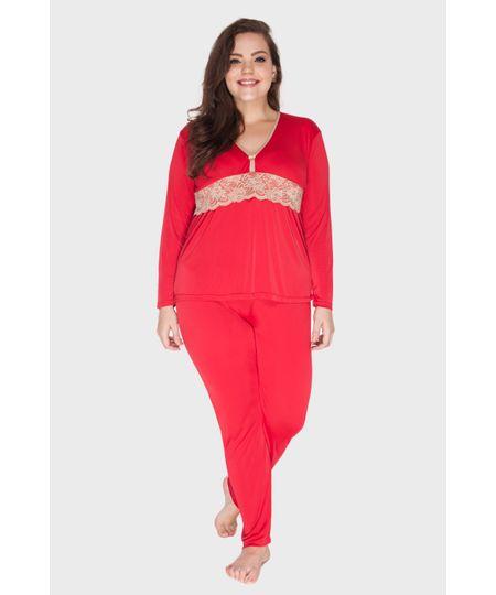 Pijama Moon Light Renda Plus Size