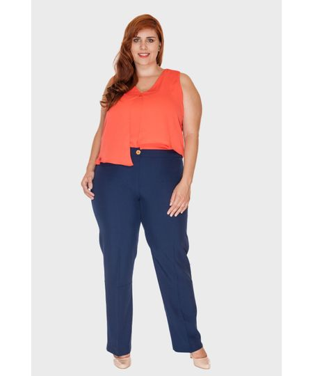 Calça Social Polly Plus Size