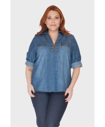 Camisa Ilhós Mali Plus Size