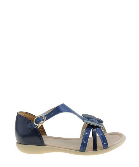 Sandália com Borboleta Azul Marinho