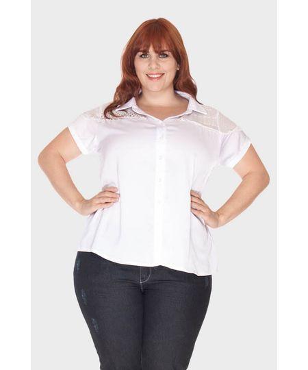 Camisa Riviera Manga Curta Plus Size
