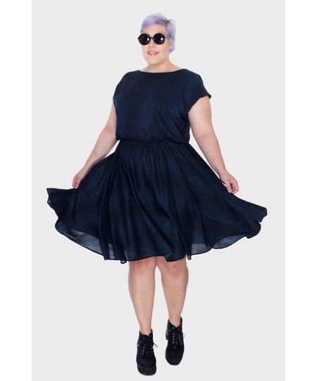 Vestido Evasê Sailor Plus Size