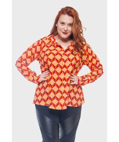 Camisa Itália Estampada Plus Size