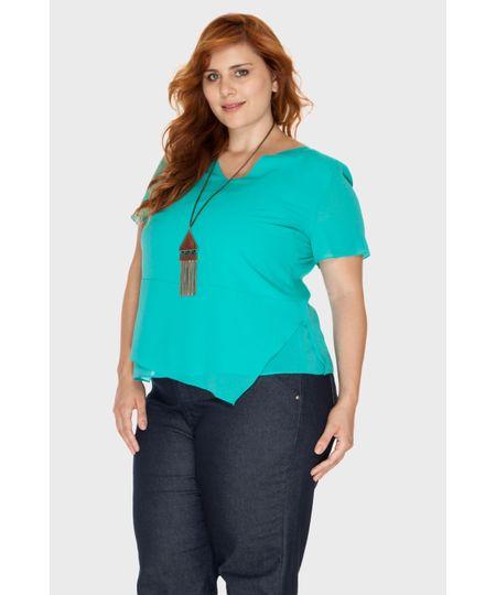Blusa Assimétrica Barcelona Plus Size