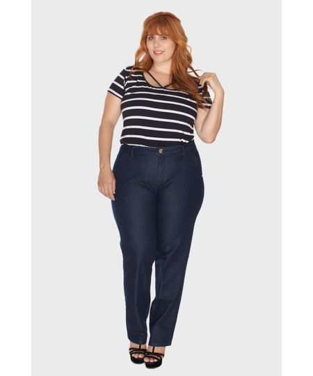 Calça Jeans Color Denim Plus Size