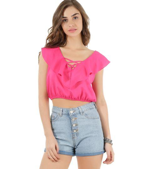Blusa Cropped Pink