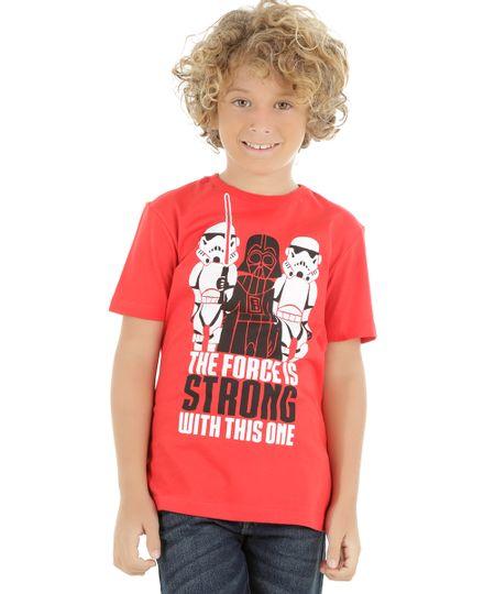 Camiseta Star Wars Vermelha