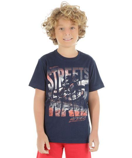 Camiseta Hot Wheels Azul Marinho
