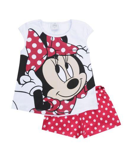 Pijama Minnie Branco