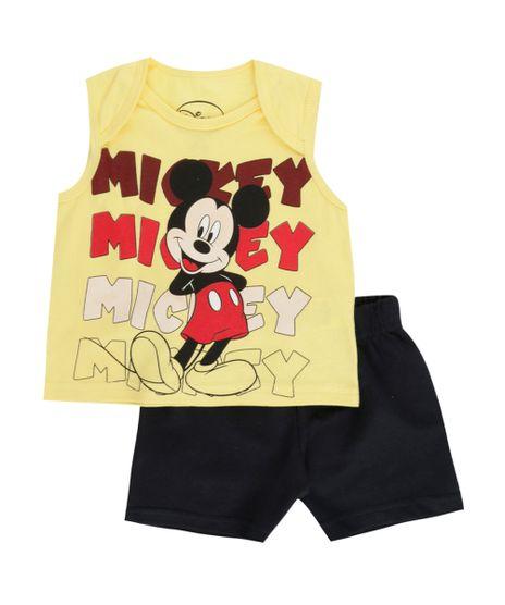 Conjunto-de-Regata-Amarela---Bermuda-Mickey-Preta-8503920-Preto_1