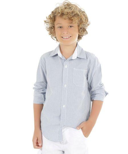 Camisa Listrada Branca