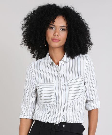 68da65b4a5 Camisa Listrada Feminina em promoção - Compre Online - Melhores ...