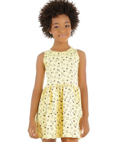 Vestido-Estampado-de-Coracoes-Amarelo-8450298-Amarelo_1