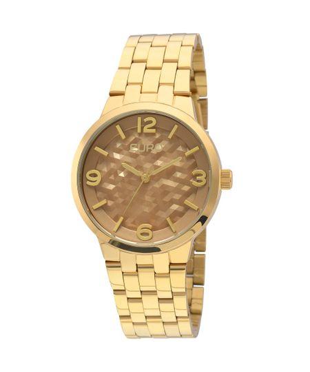 Relógio Euro Irregular Dourado - EU2036LZG/4D