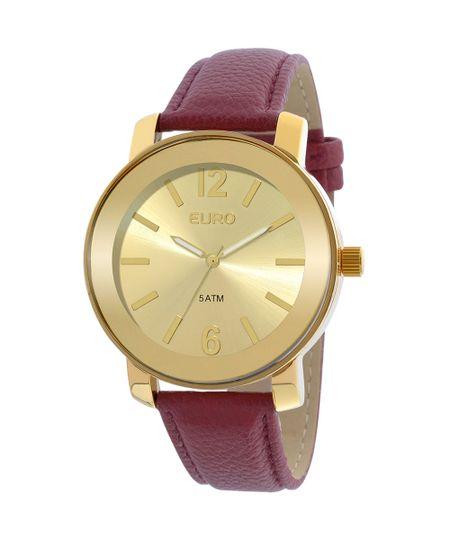 Relógio Euro Feminino Basic EU2039IETD/2D - Vermelho