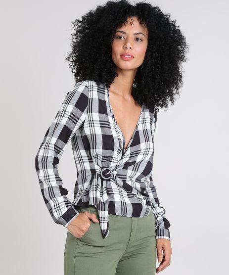 30ee67ebfb Camisa Xadrez Feminino em promoção - Compre Online - Melhores Preços ...