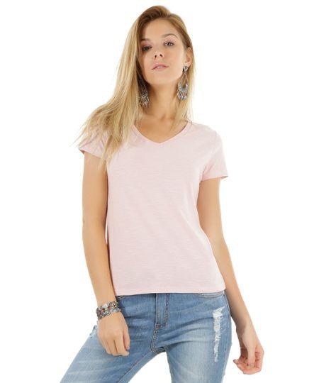 Blusa Básica Rosa Claro