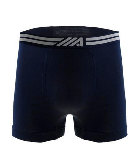 Cueca Boxer Ace Sem Costura Azul Marinho