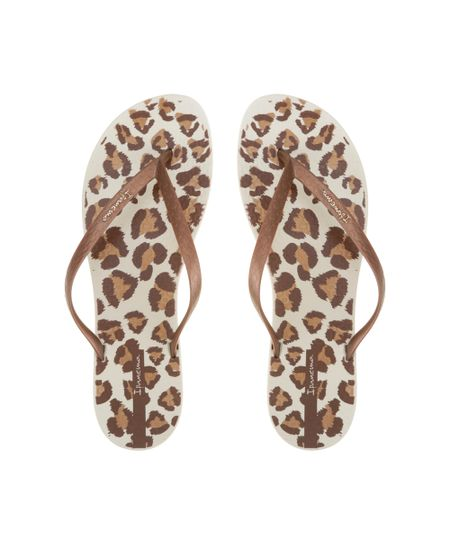 Chinelo Ipanema Animal Print Bege