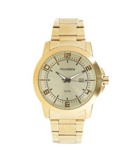 Relógio Mondaine Analógico Analógico Masculino -  94901GPMVDE2 Dourado