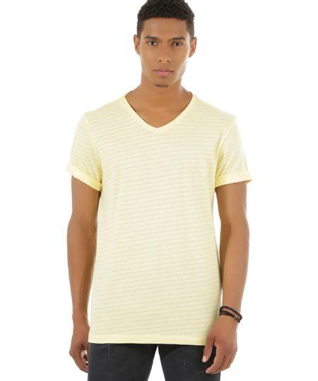 Camiseta Listrada Amarela