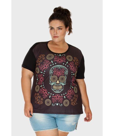 Camiseta Caveira Plus Size