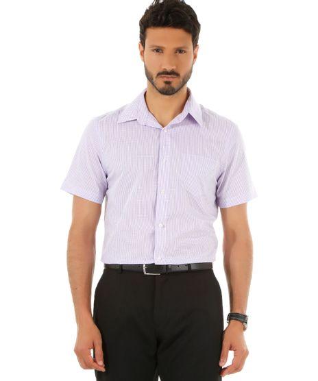 Camisa-Social-Comfort-Xadrez-Lilas-8435463-Lilas_1