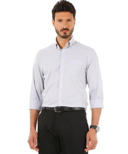 Camisa Social Comfort Cinza