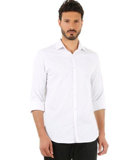 Camisa Social Slim Branca