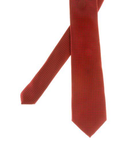 Gravata em Jacquard Estampada Vermelha