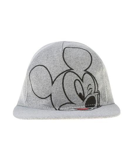 Boné Mickey Cinza Mescla