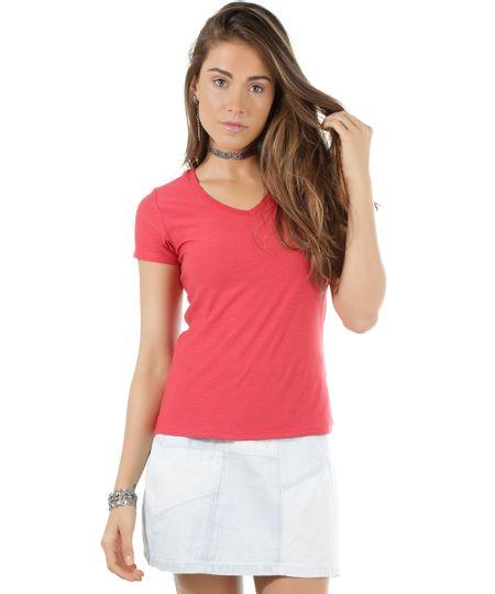Blusa Flamê Básica Vermelha