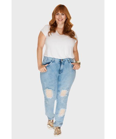 Calça Jeans Boyfriend Plus Size