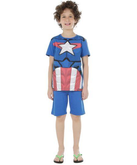 Pijama Capitão América Azul