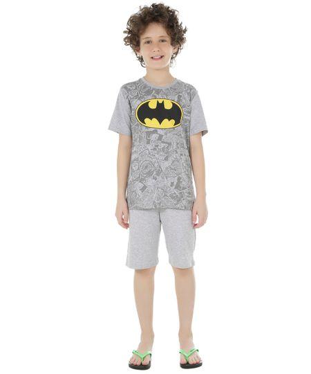 Pijama Batman Cinza Mescla