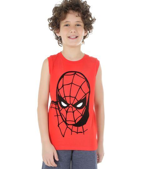 Regata Homem Aranha Vermelha