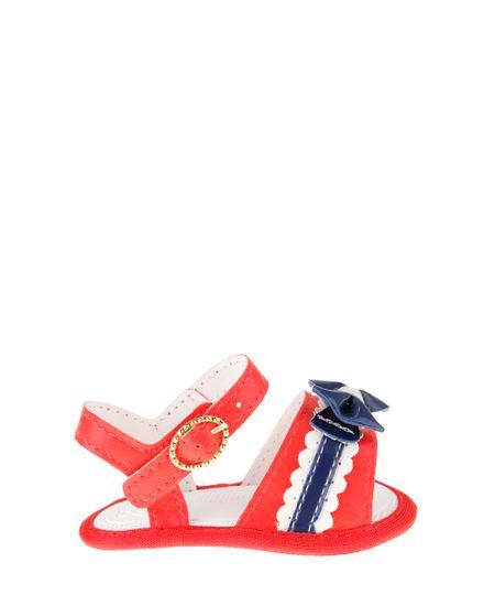 Sandália com Laço Pimpolho Vermelha