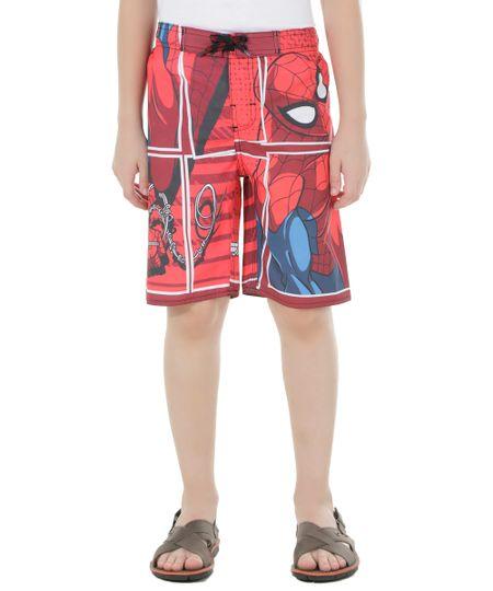 Bermuda Homem Aranha Vermelha