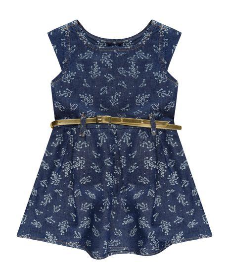 Vestido-Jeans-Estampado-Floral-com-Cinto-Azul-Escuro-8519485-Azul_Escuro_1