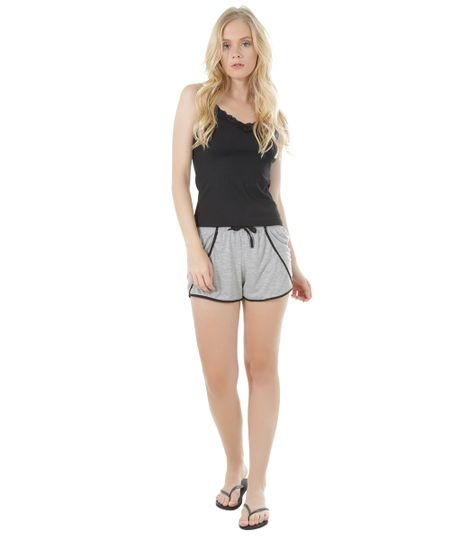 Short Doll com Renda Preto