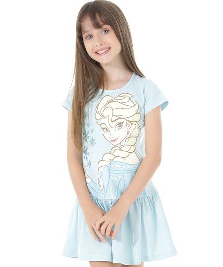 Vestido Frozen Azul Claro