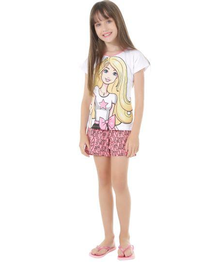 Pijama Barbie Branco