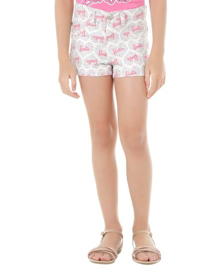 Short Estampado Barbie Rosa Claro