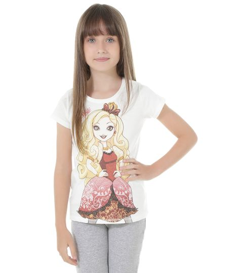 Blusa Ever After High Off White