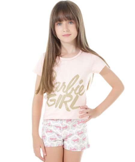 Blusa Barbie Girl Rosa Claro