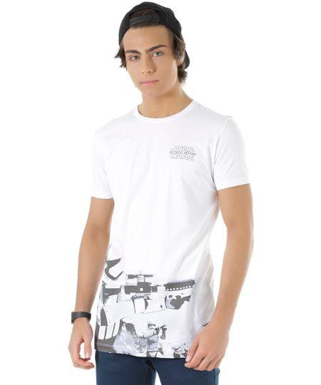 Camiseta Longa Stormtrooper Branca