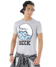 Camiseta-Os-Smurfs-Cinza-Mescla-8484891-Cinza_Mescla_1