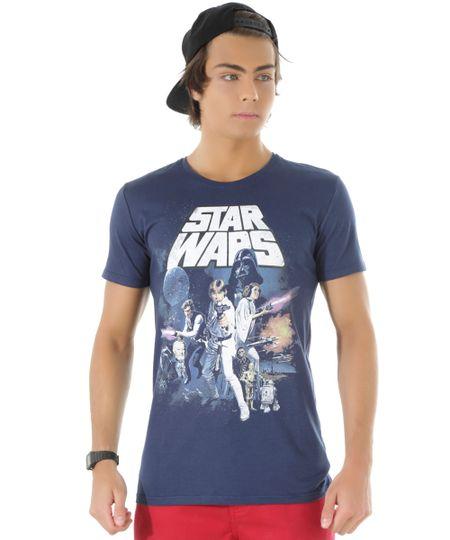 Camiseta Star Wars Azul Marinho