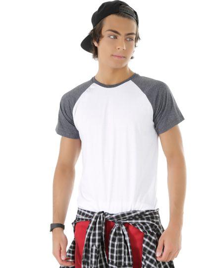 Camiseta com Recorte Branca